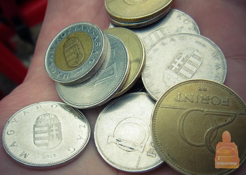 Венгерские монеты от 5 до 200 форинтов