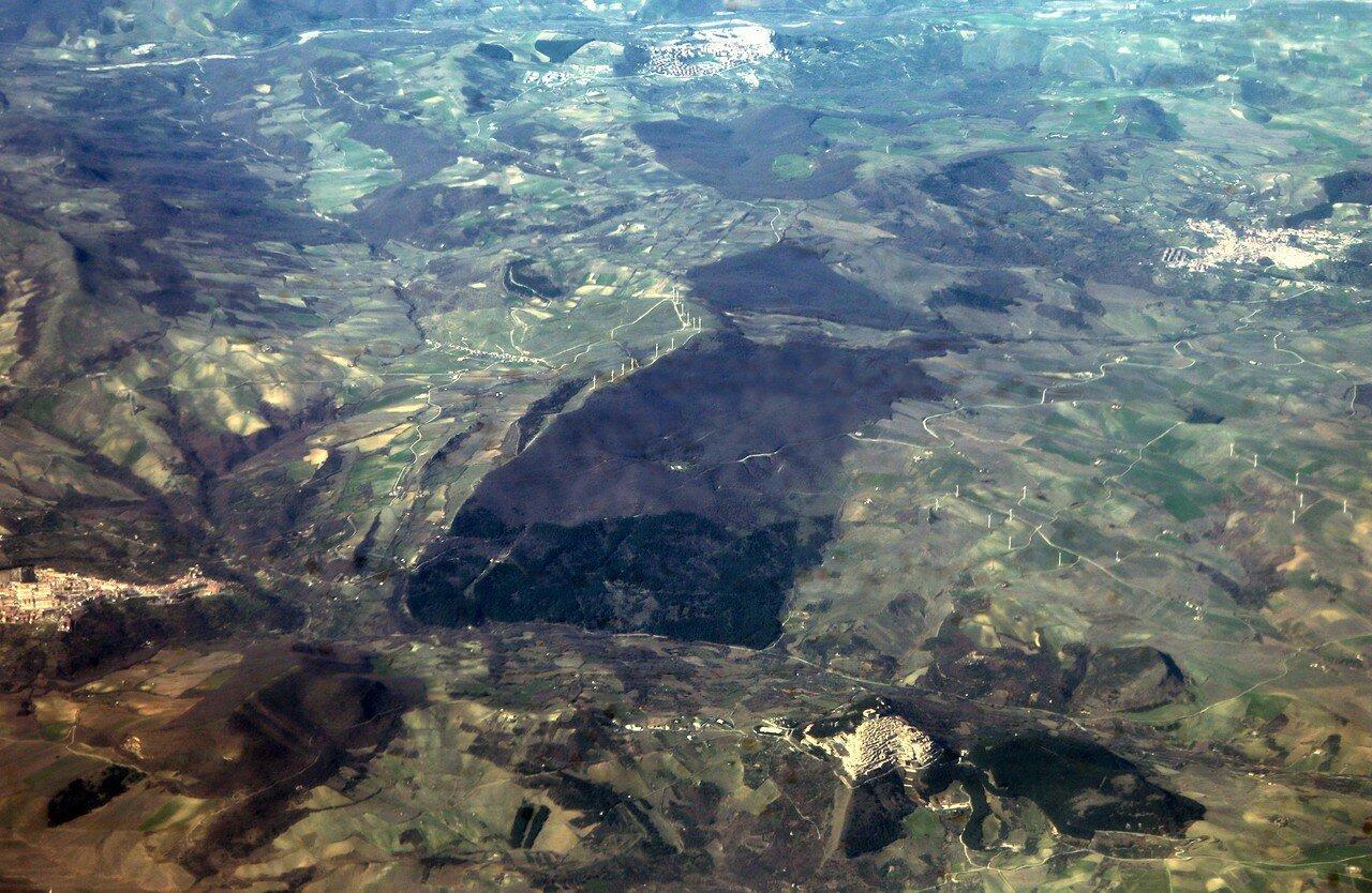 Южная Италия. Вид с самолёта