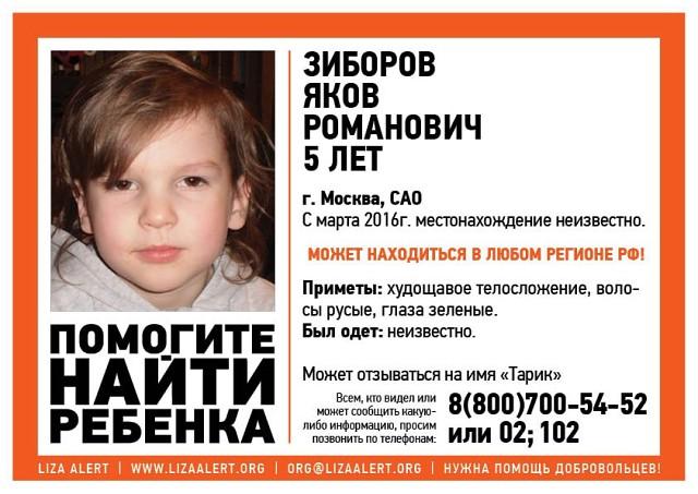 Пропавший годом ранее пятилетний москвич нашелся вРеспублике Беларусь
