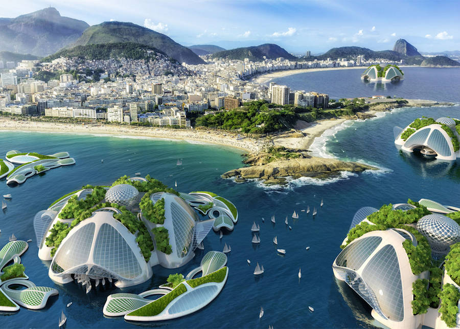 Clever Underwater Eco Village Plans (12 pics)