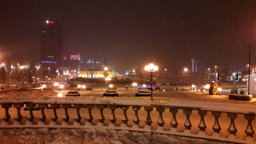 Новогодний Минск. Верхний город.