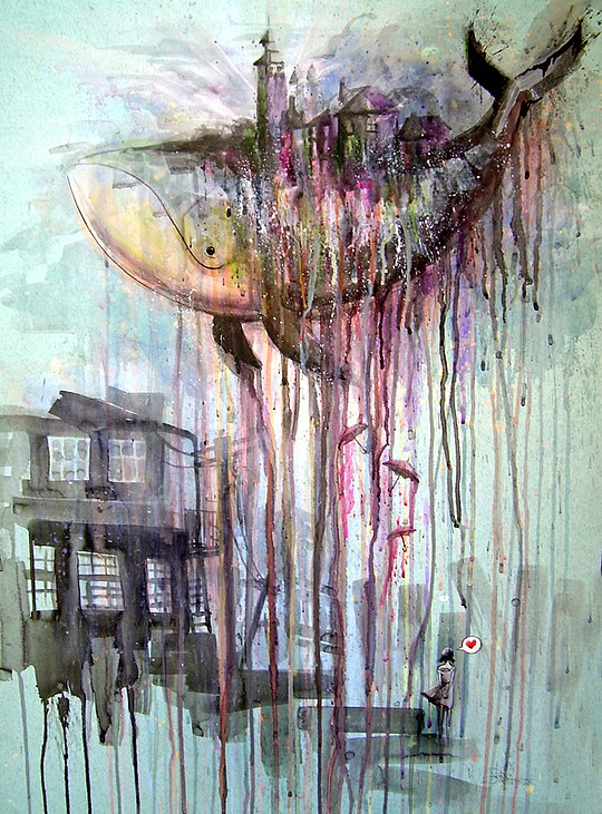 Watercolor Art by Lora-Zombie