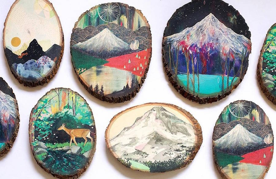 Beautiful Paintings on Reclaimed Wood