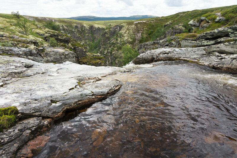 водопад на реке Дёра (Døra, Dørfallet)