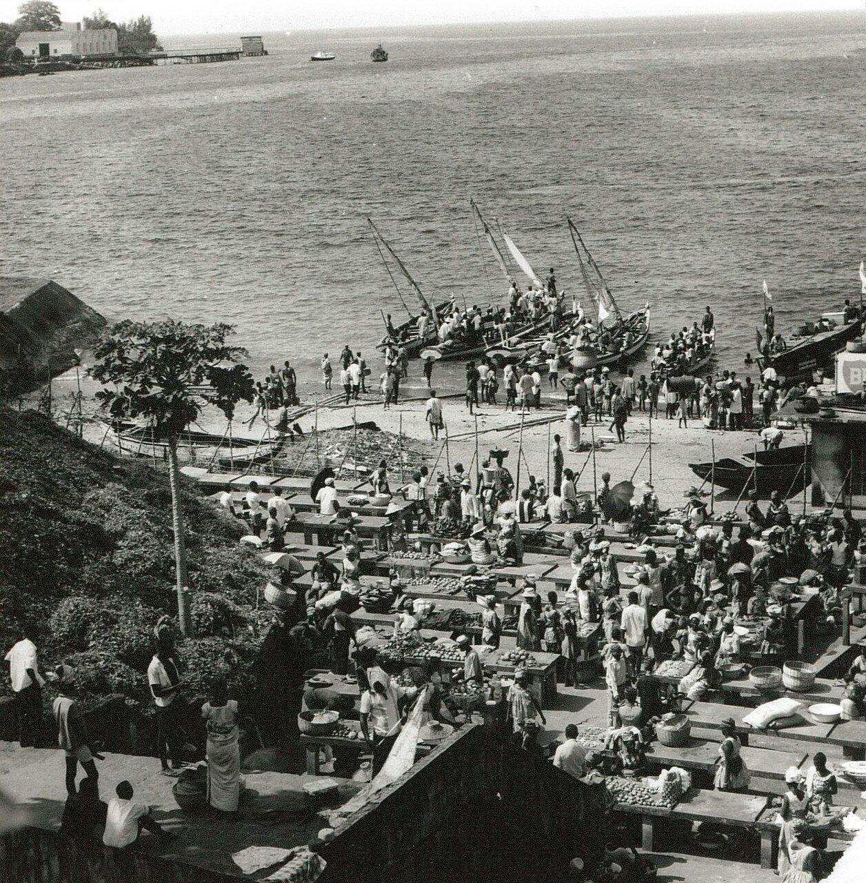Фритаун. Прибрежный рынок