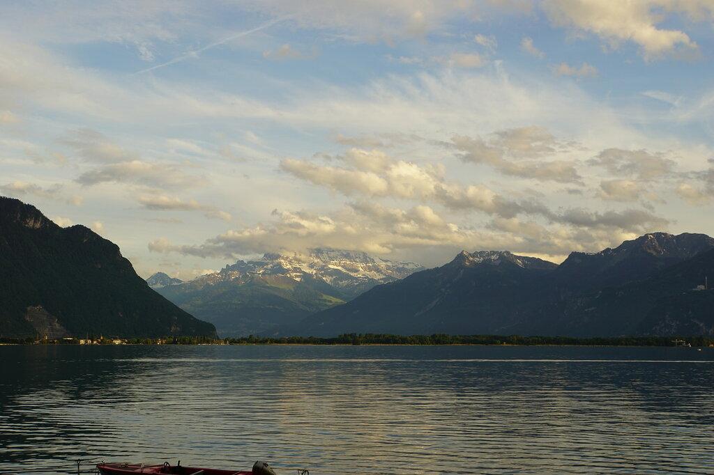 Закат у Женевского озера