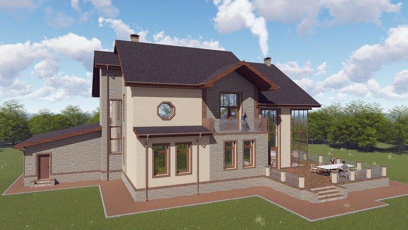 проект дома, визуализация 4