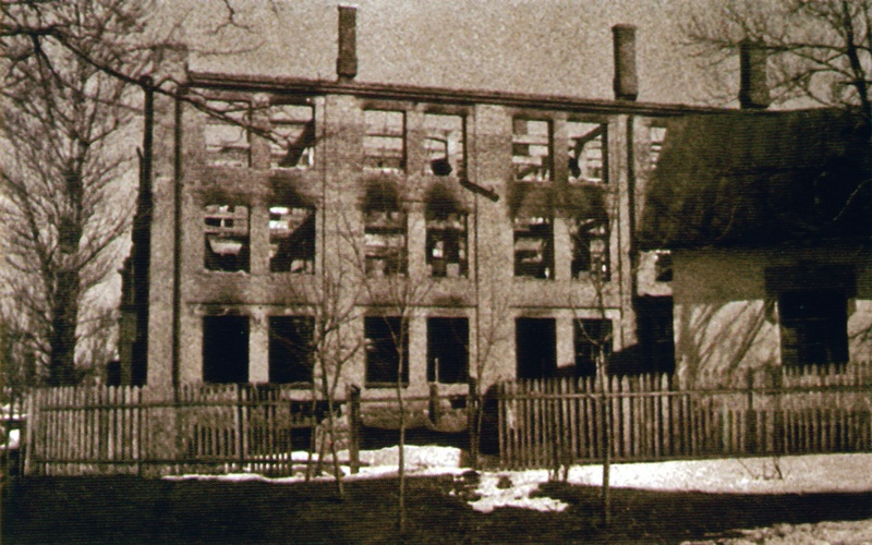 Уничтоженный корпус фабрики им. Володарского