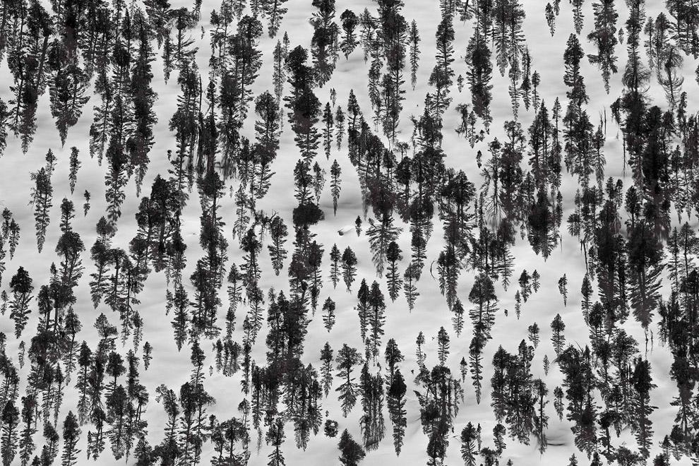 Наш Млечный Путь и ледниковая гора Пик Баннер. (Фото Peter Essick):