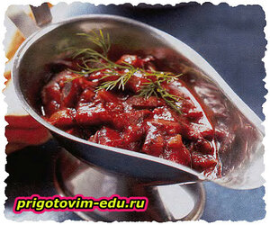 Испанский соус с вином и грибами