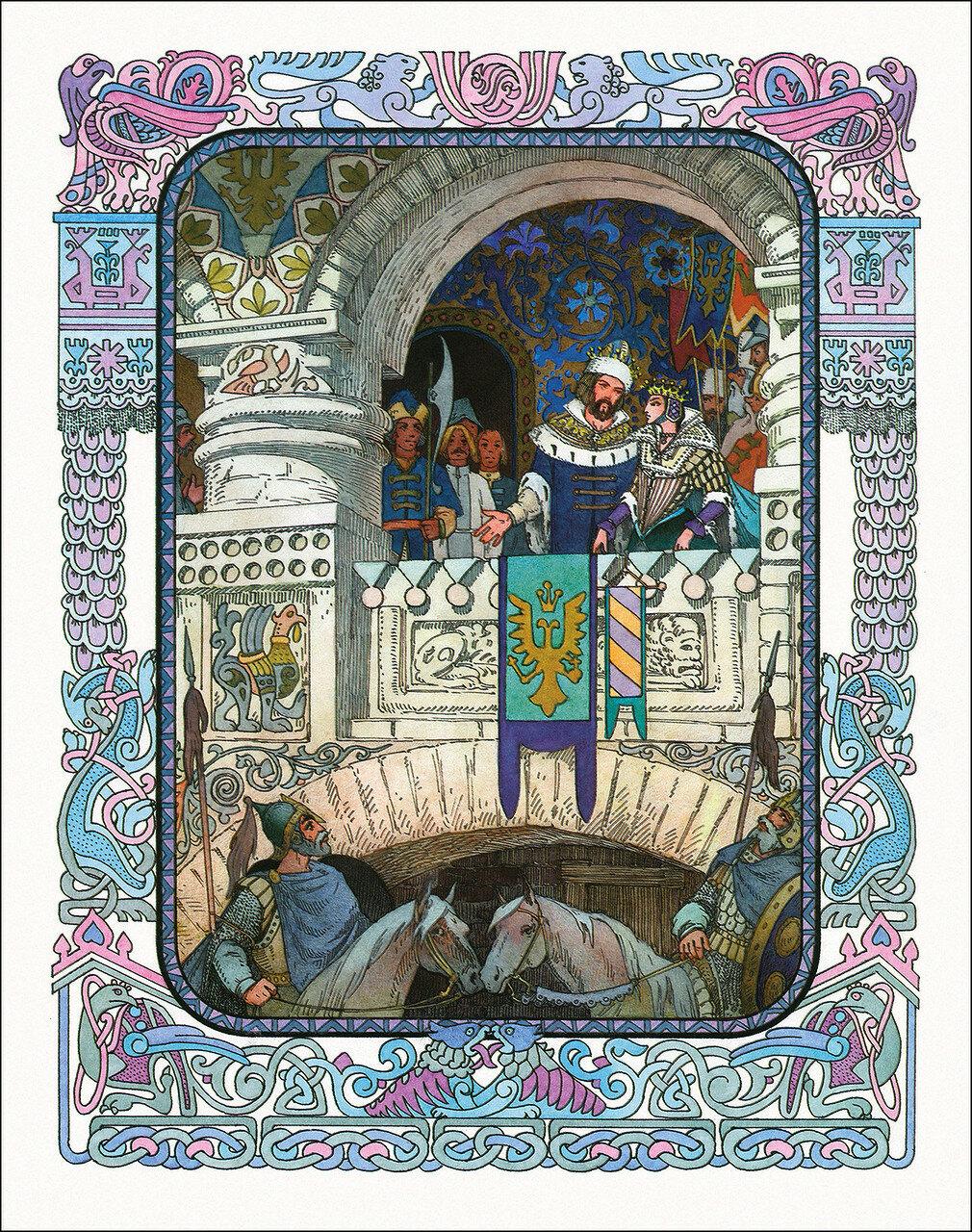 рисунки к сказке пушкина золотой петушок