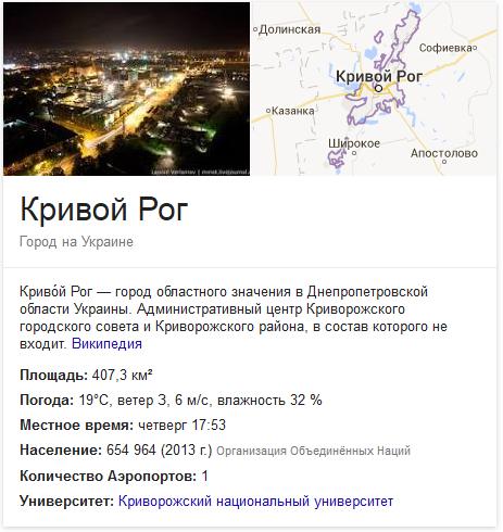 Кривой Рог. Город на Украине