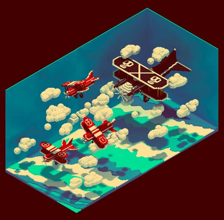 Voxel Art - Expanding pixel art to 3D