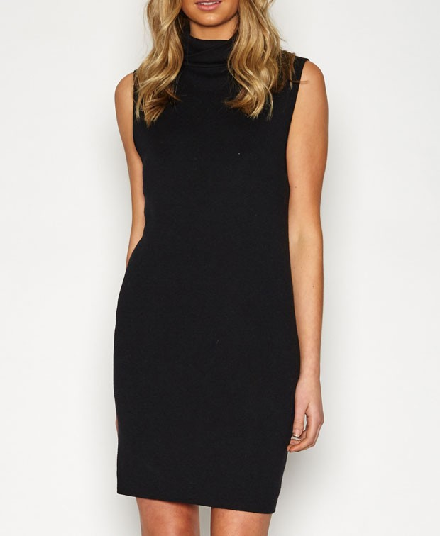 THE LITTLE BLACK DRESS The little black dress is never likely to go out of fashion , and there is a
