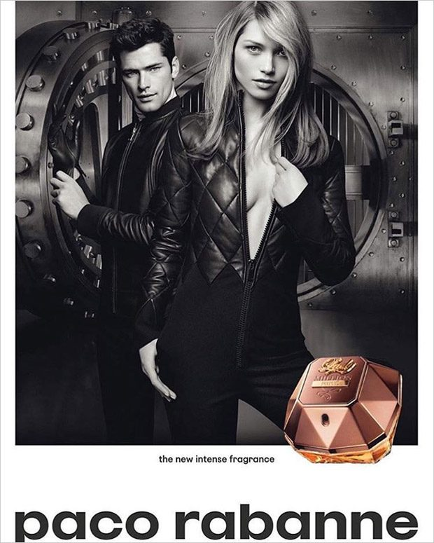 Supermodels Hana Jirickova and Sean O'Pry team up for Paco Rabanne 's Lady Million Prive 2016