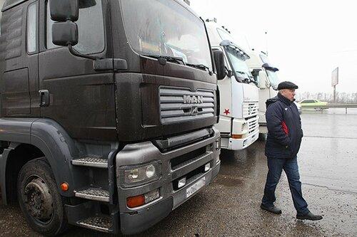 Российские фуры снова заблокированы на территории Украины
