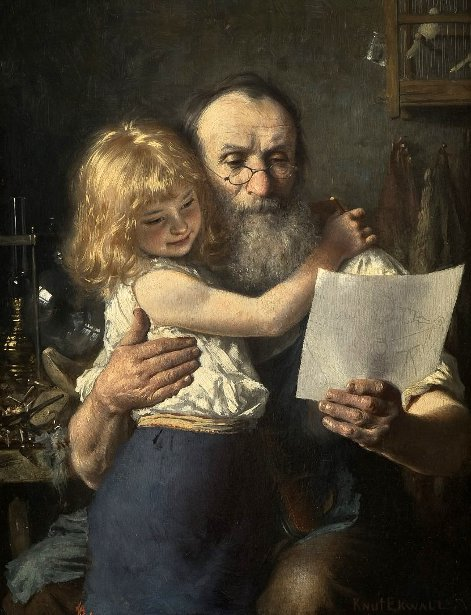 Кнут Эквалл (Швеция) Спаожник с внучкой 1882