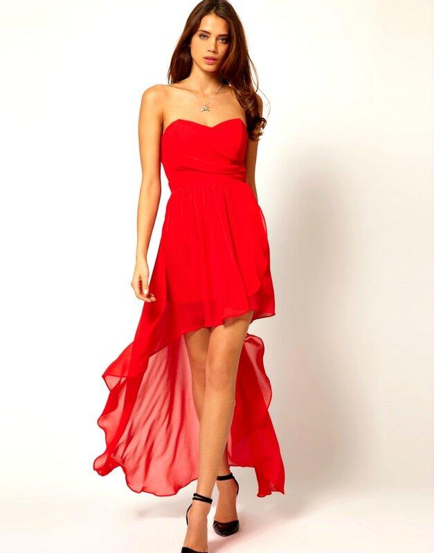 Статус о себе в красном платье