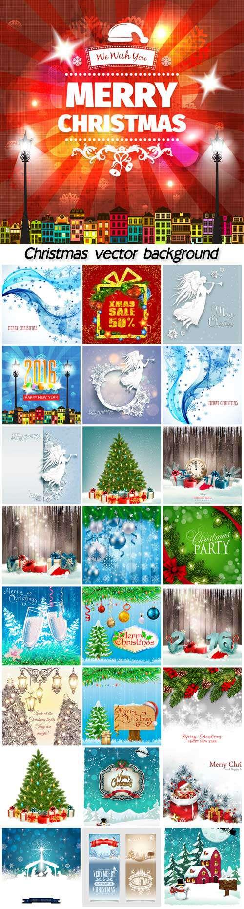 Новый год и Рождество - Векторные иллюстрации