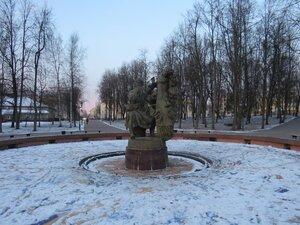 Фонтан Садко - Новый год в Великом Новгороде