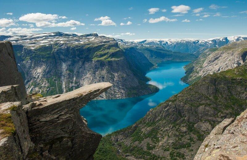 Скала Язык Тролля, Норвегия