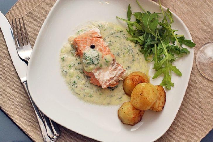 4. Сливочно-горчичный соус — идеален для рыбы 200 мл сливок 20-процентной жирности налейте в сотейни