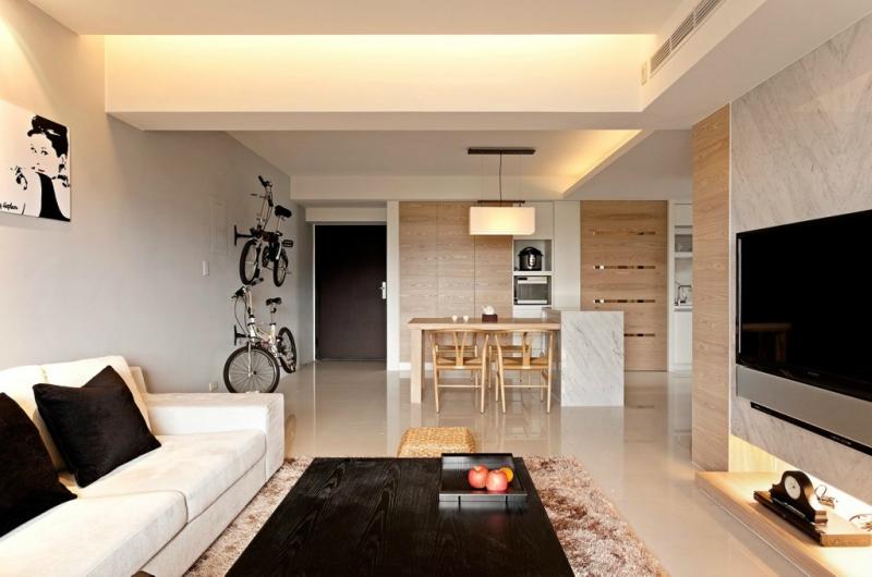 Дизайн интерьера гостиной в светлых оттенках фото 3
