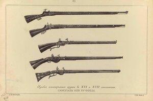 81.  Русское огнестрельное оружие в ХVI и ХVII столетиях. Самопалы или ручницы