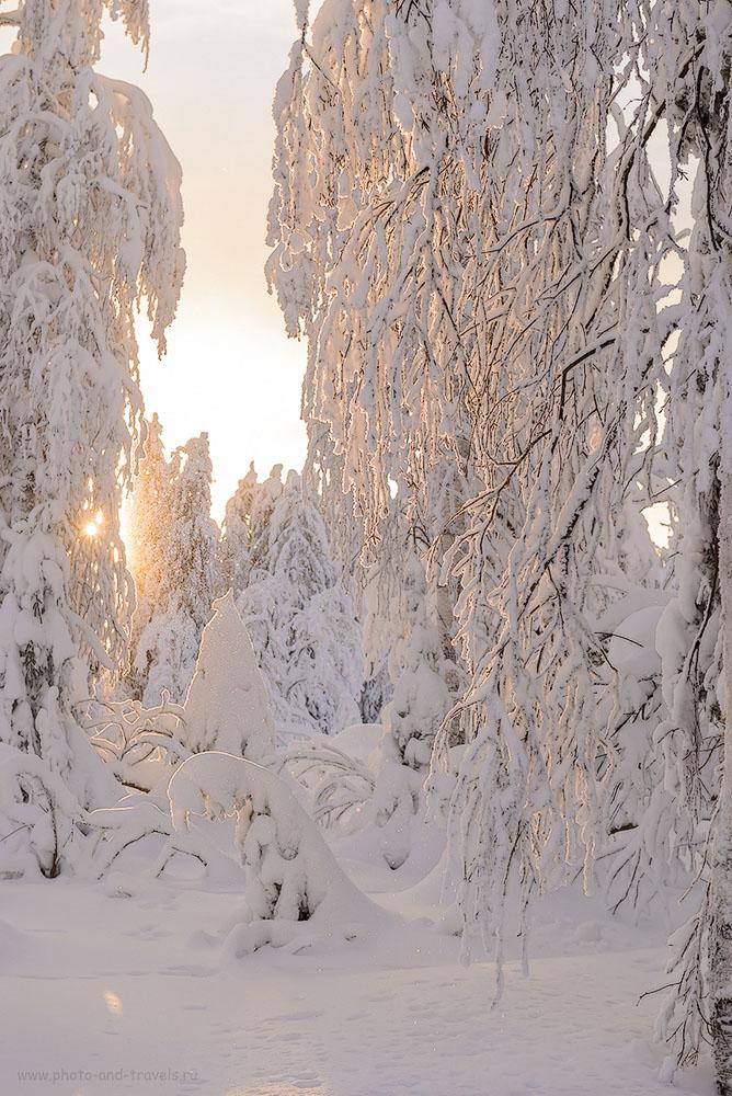 Фото 34. Вот такая красота начиналась, когда мы уже вышли к автомобилю. Поездка на Каменный город в Пермском крае. 1/400, 0.67, 640, 70.