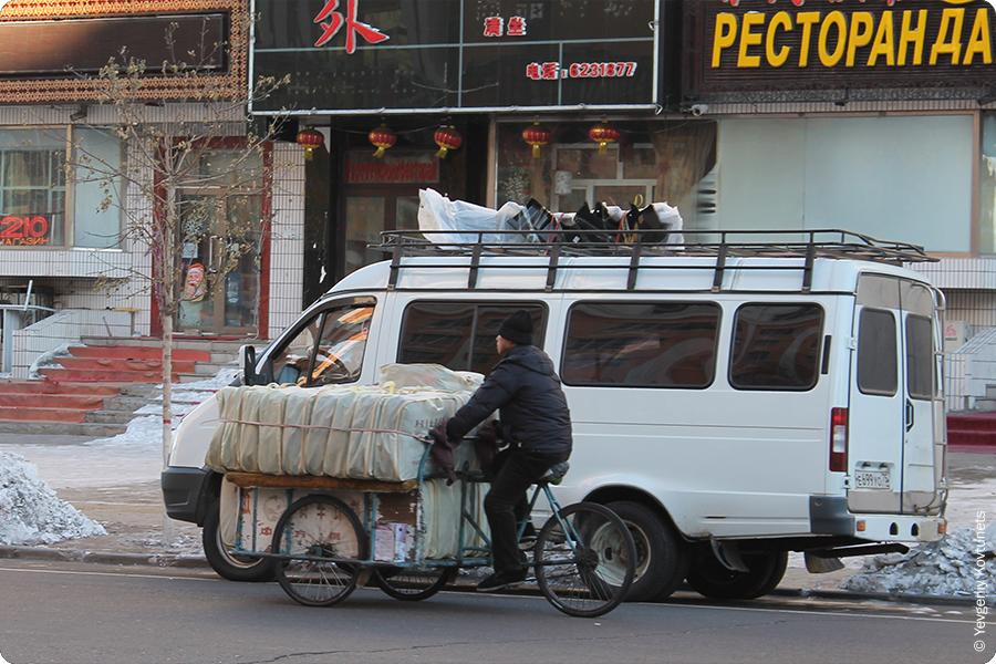 китайская вело-газель на улицах Маньчжурии