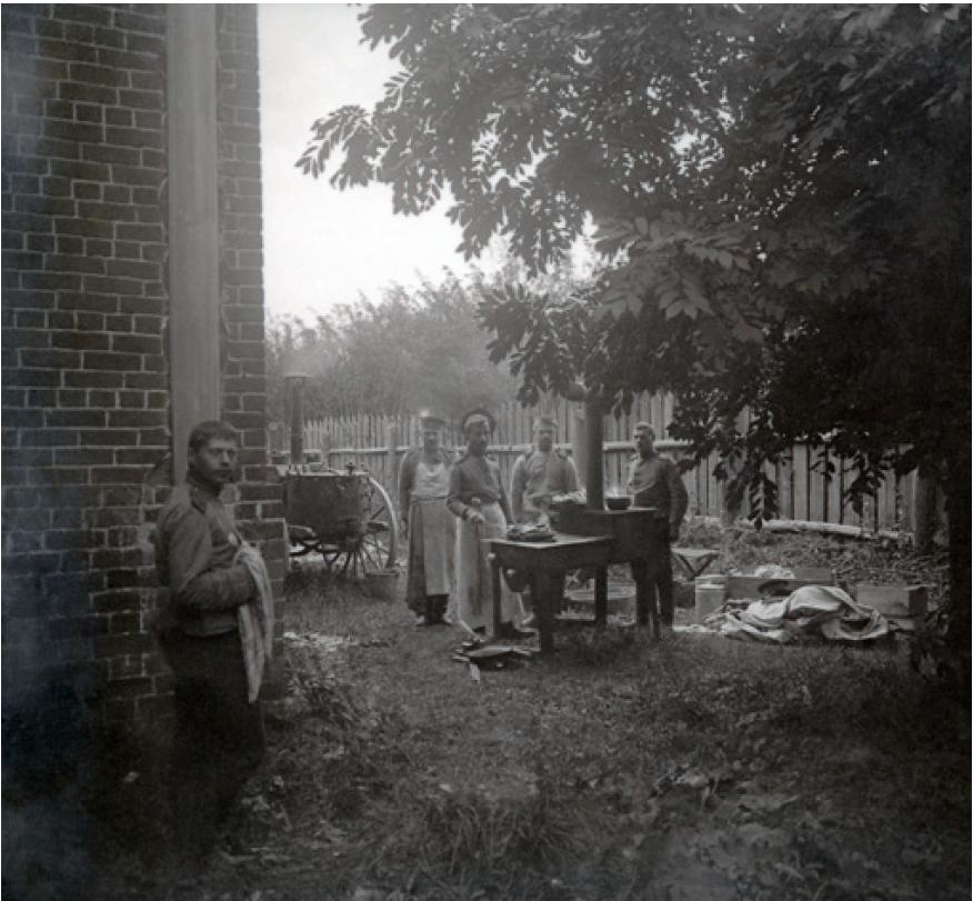 17. 1914. Полевые кухни роховского полка. Сенява, Галиция