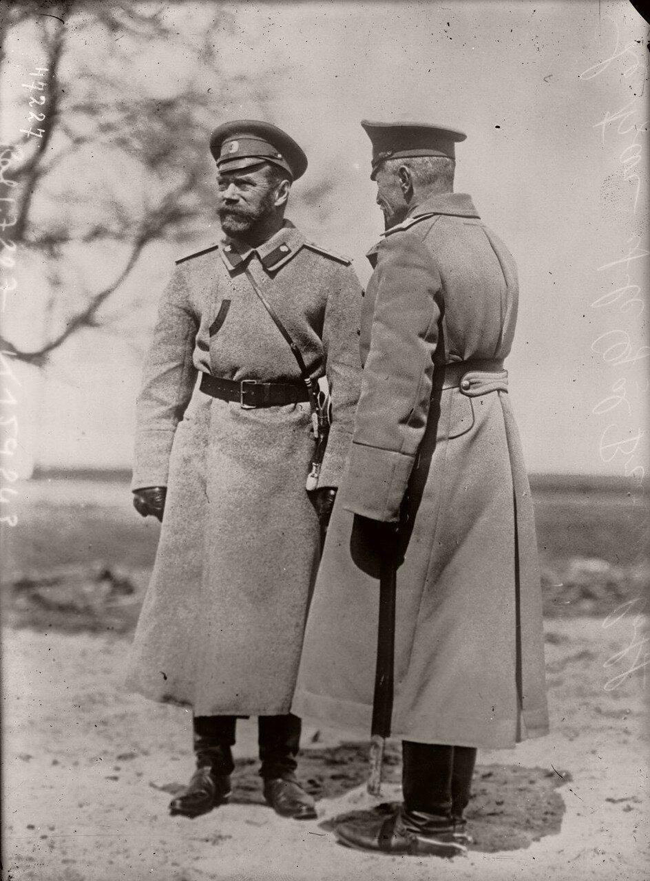 Генерал Брусилов и Николай II. 1915