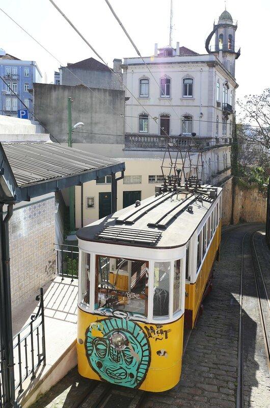Lisbon. The Lavra funicular (Elevador do Lavra)