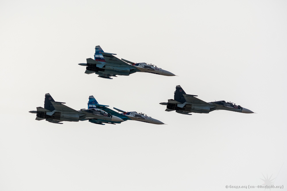 МАКС-2015. Выступление пилотажных групп