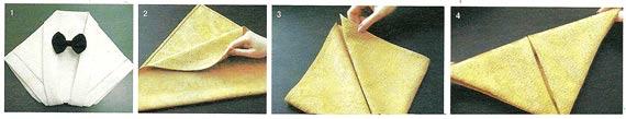Как сложить салфетки для праздничного