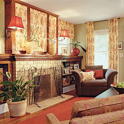 интерьер декор гостиной до и после ремонта