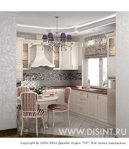 Интерьер кухни в стиле прованс от