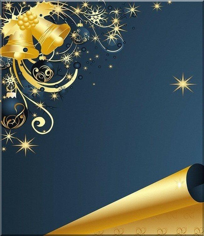 Клипарты новогодних корпоративных открыток, пожеланиями