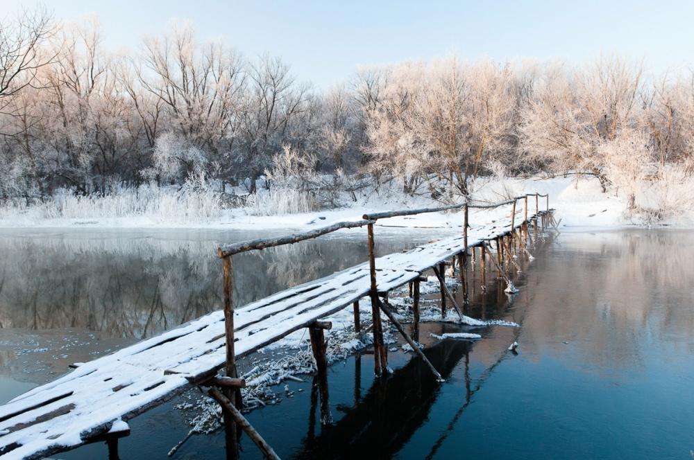 ©Denis BelyaevМост через реку Цна, Тамбовская область. Природа заставит тебя поверить всказку