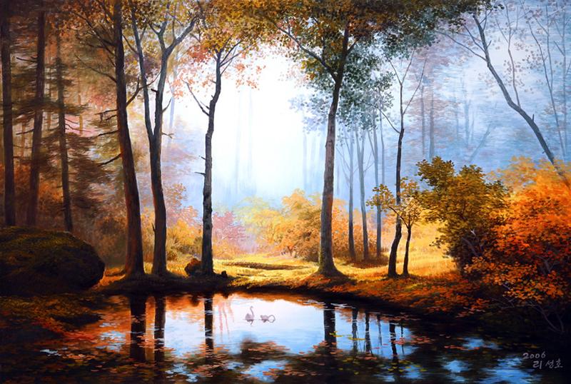 И ты рассматривай природу... Корейский художник Ли Санг