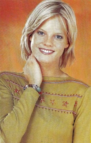 вышивка на пуловере