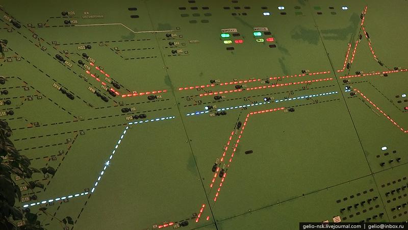 Пульт табло маршрутно релейной централизации