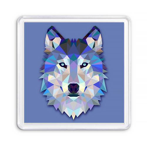 Сувенирный акриловый магнит Графика Волк