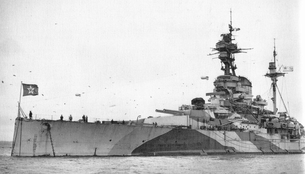 Soviet battleship Arkhangelsk EX Royal Sovereign in 1944
