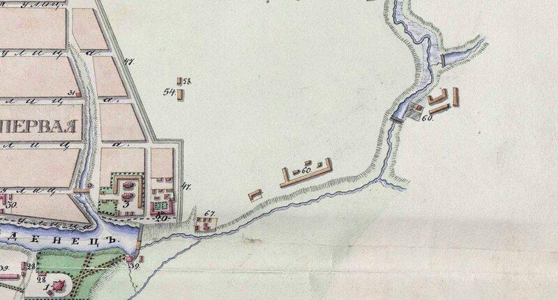 Речка Чумарса на плане г. Тамбова 1832 года