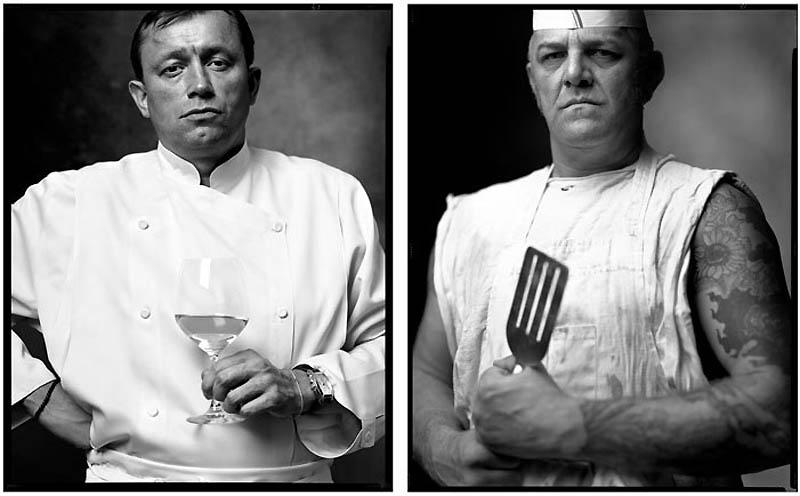 15. Шеф-повар французского ресторана / Повар из уличной забегаловки, 2006/1999 гг.