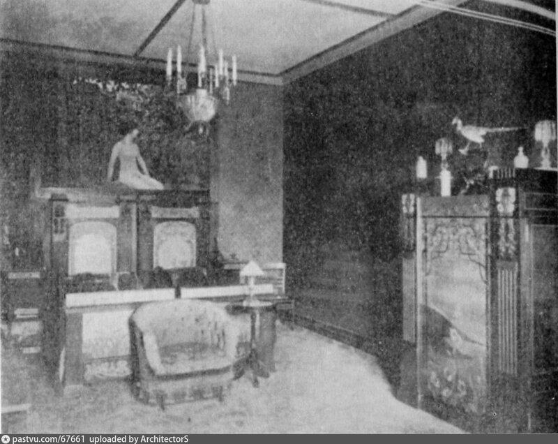 Петровский парк. Вилла Чёрный лебедь. Кабинет Рябушинского 1909.jpg
