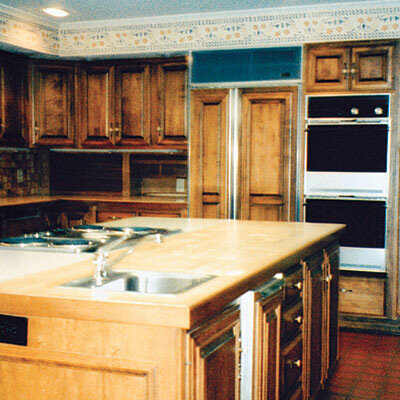интерьер кухни до и после