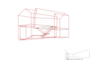 Проект жилого дома в поселке Благовещенка, Пятницкое шоссе 12 км. трёхмерная габаритная схема сооружения. коттедж современный стиль в интерьере компоновка помещения 3d проект