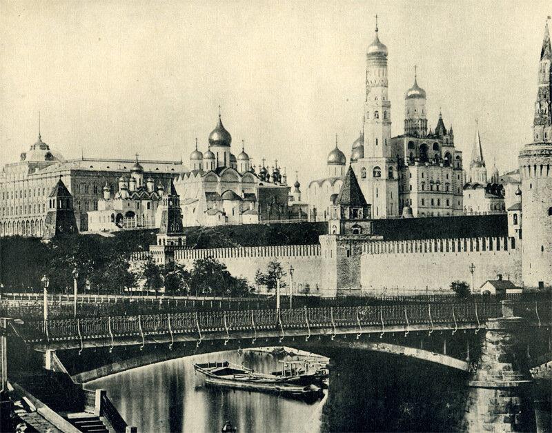 Вид Кремля от Москворецкаго моста.